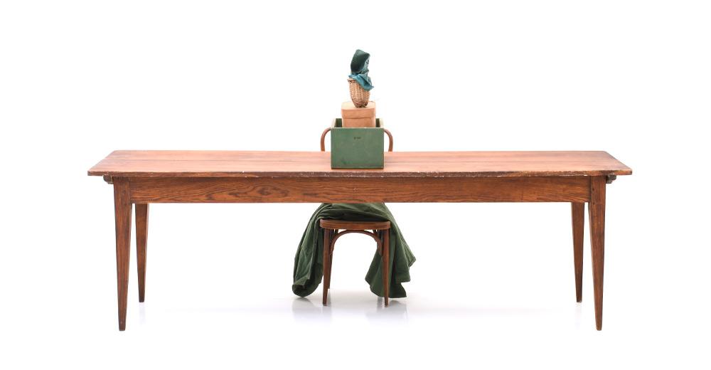 Antiker Biedermeier Eichen Holztisch 5869 Tische Viadukt3