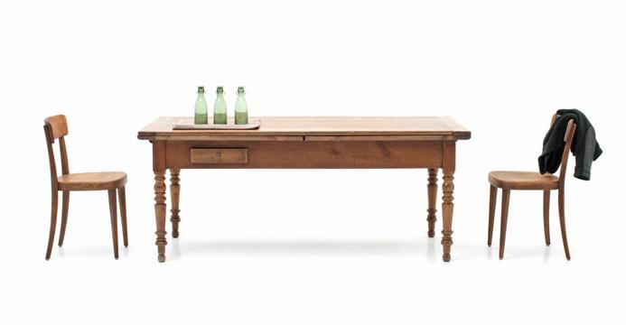 Tische aus holz hochwertig vintage oder neu viadukt 3 for Auszugstisch holz