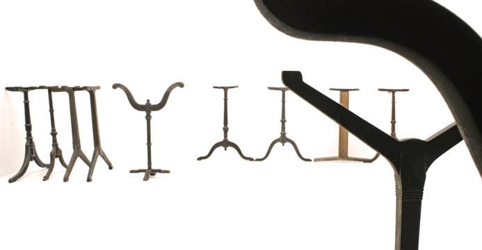 bistrotisch und gussf sse 3377 tische viadukt 3. Black Bedroom Furniture Sets. Home Design Ideas