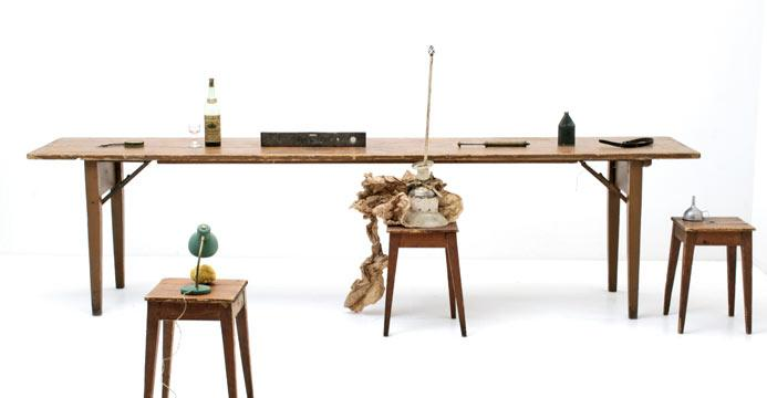 grosser holztisch 5039 tische viadukt 3. Black Bedroom Furniture Sets. Home Design Ideas