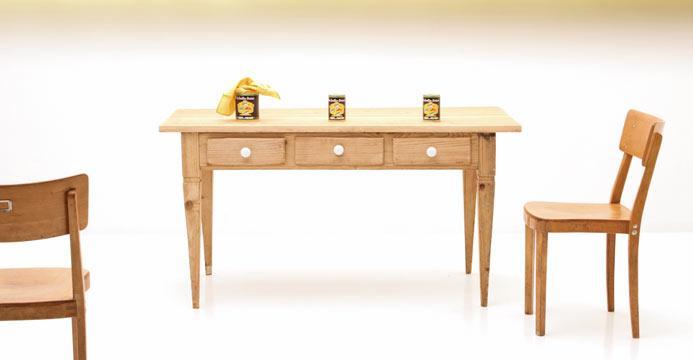 Tische aus holz hochwertig vintage oder neu viadukt 3 for Holztisch retro