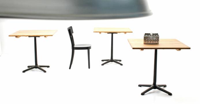 quadratische bistrotische gastro 5511 tische viadukt 3. Black Bedroom Furniture Sets. Home Design Ideas